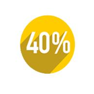 Бонус на пополнение 40% от суммы